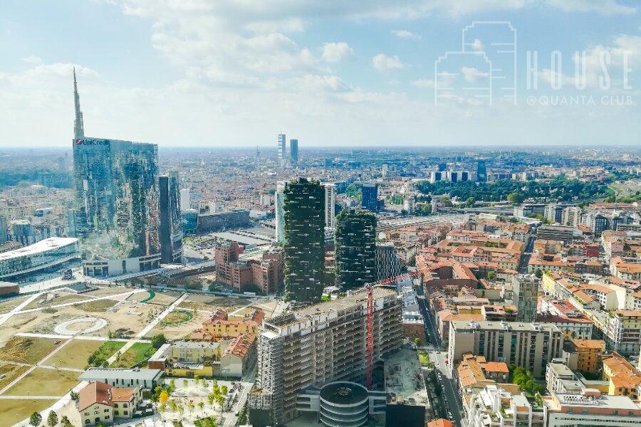 Skyline di Milano con le nuove costruzioni