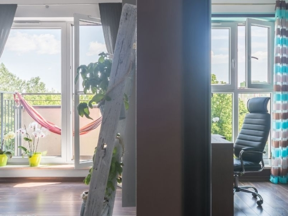 Le due stanze di un bilocale a Milano